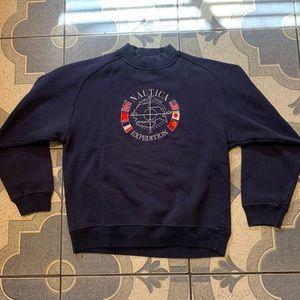 Vintage Nautica Expedition Embroidered Crewneck L